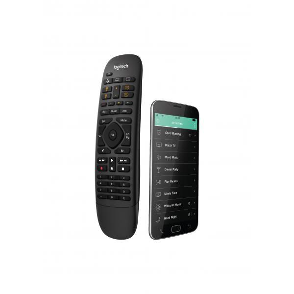 Logitech Harmony Companion telecomando IR Wireless/Wi-Fi Audio, Cavo, DVR, Console da gioco, Sistema Home cinema, PC, Smartphone, TV, Tablet Pulsanti