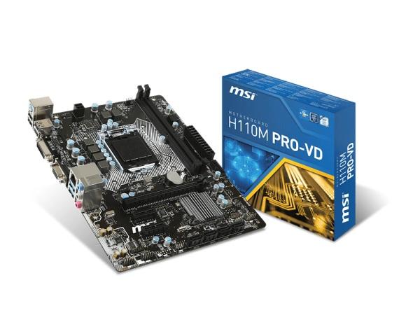 MB MSI H110M PRO-VD H110 LGA1151 2DDR4 VGA+DVI 2*PCIe 4*SATA3 6*USB mATX