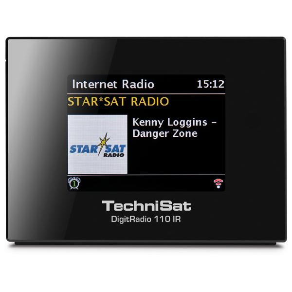 TechniSat - Radio digitale 110 IR, FM/DAB+, ricevitore con radio internet, streaming multi-room, connessione a Spotify, ideale da abbinare a impianti HiFi, Bluetooth, WLan, streaming audio UPnP, nero 0010/4958