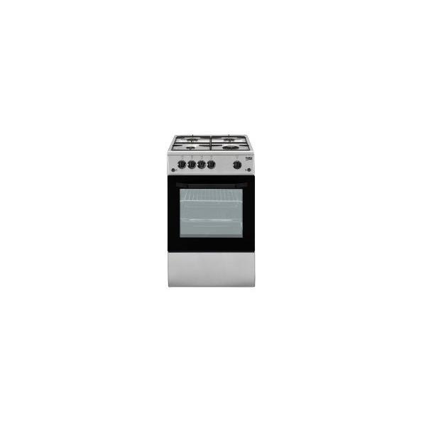 Beko CSG42011FS - Cucina da Libero Posizionamento, 4 Fuochi a Gas, 50x50 cm