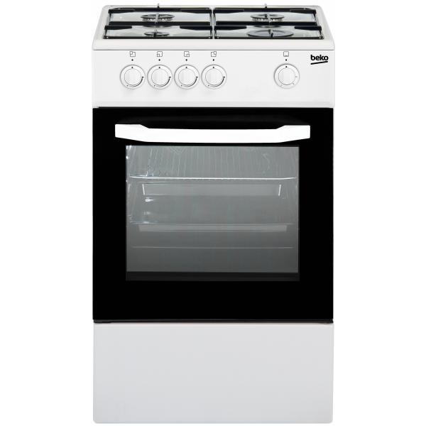 Beko CSG42001FW - Cucina, Forno a Gas, 4 fuochi, 50x50 cm