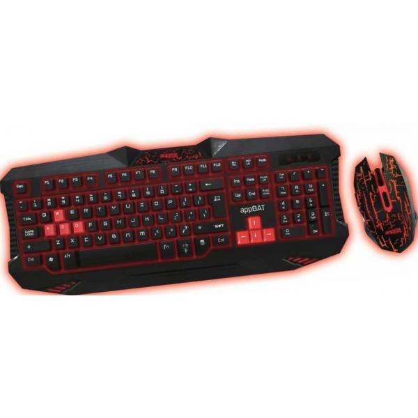 Approx BAT USB QWERTY Nero tastiera 8435099519997  02_S0203111