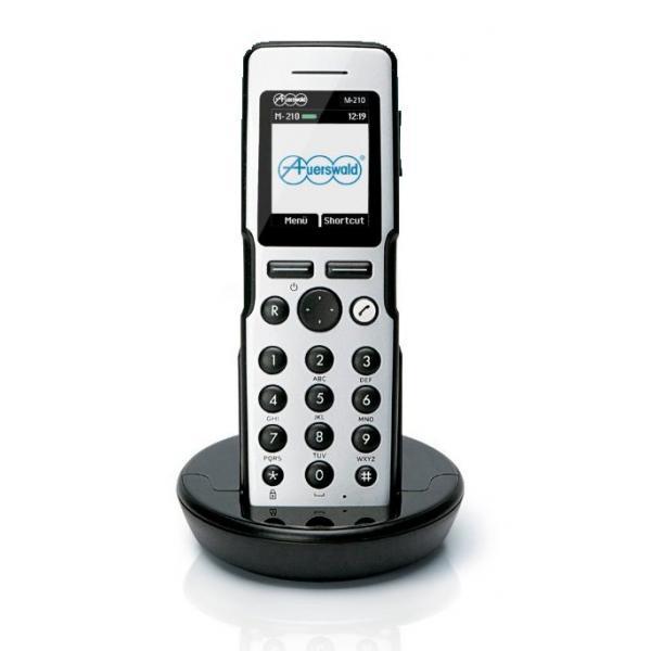 Auerswald COMfortel M-210 Telefono DECT Nero, Argento