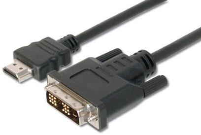 CAVO ADATTATORE M/M HDMI a DVI-D DIGITUS da HDMI 19 POLI TIPO A a DVI-D 18+1 POLI - 3MT