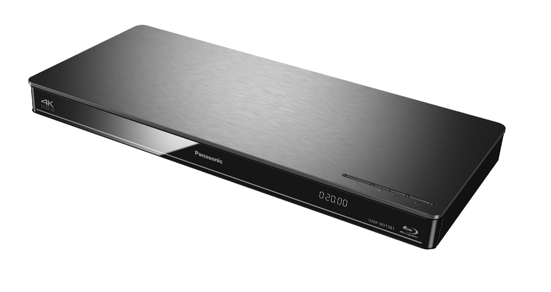 DMP-BDT385EG lettore Blu-ray 3D (4K upscaling, WiFi, DLNA, VoD, HDMI, USB, NAS) argento