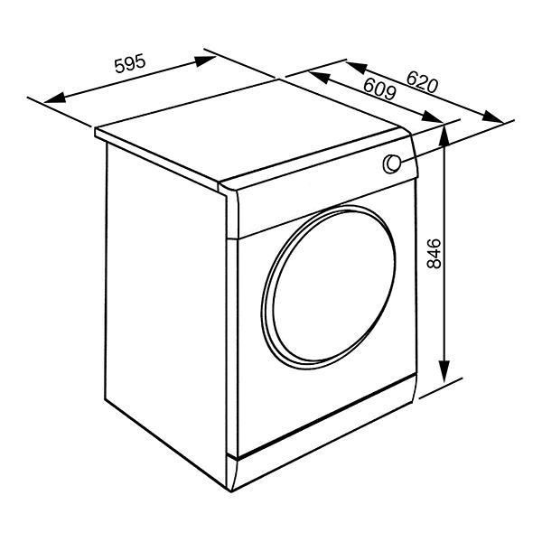 Smeg DHT83LIT-1 - Asciugatrice a Pompa di Calore, 8 Kg, A+++