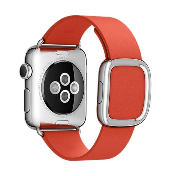 Apple MMGY2ZM/A Band Rosso Pelle accessorio per smartwatch 0888462865487 MMGY2ZM/A 08_MMGY2ZM/A