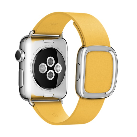 Apple MME22ZM/A Band Giallo Pelle accessorio per smartwatch 0888462855952 MME22ZM/A 08_MME22ZM/A