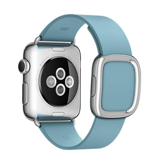 Apple MME32ZM/A Band Blu Pelle accessorio per smartwatch 0888462856003 MME32ZM/A 08_MME32ZM/A