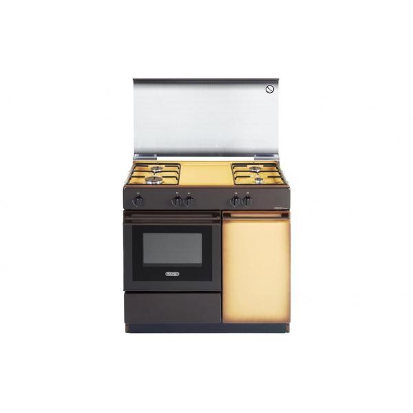 De Longhi SGK854N - Cucina a Gas, 86x50 cm, 4 Fuochi, Forno a Gas
