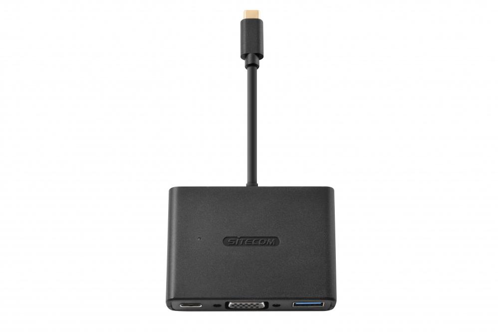Sitecom CN-364 USB-C to USB + VGA + USB-C 3-in-1 Adapter 8716502030293 CN-364 10_R271153