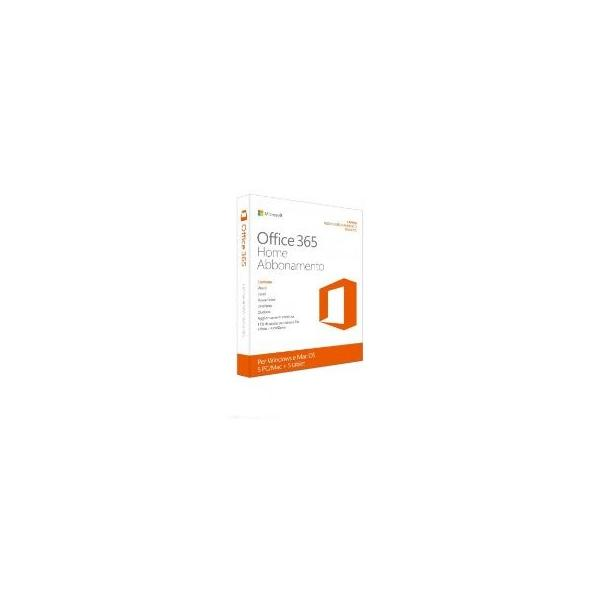 MICROSOFT Office 365 Home Premium 32/64 BIT Italian Subscr 1YR Eurozone Medialess 1 utente-5PC/MAC-5 TELEFONI-5 TABLET 6GQ-00723