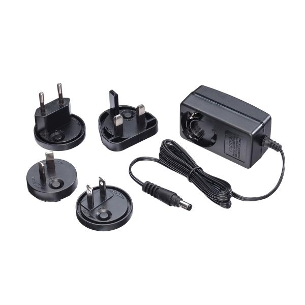 Alimentatore 12VDC 1.25A Multi-country, 5.5/2.1mm