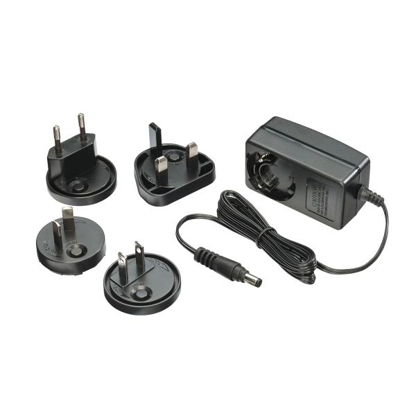 Alimentatore 9VDC 2A Multi-country, 5.5/2.1mm