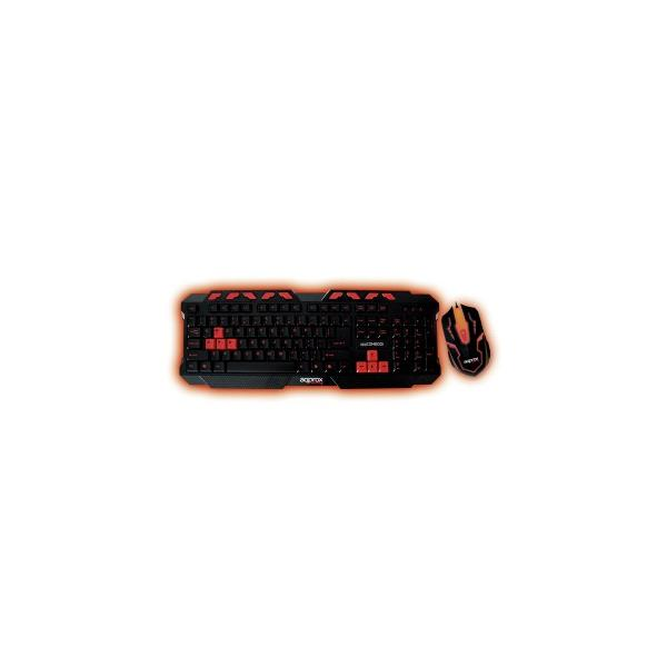 Approx appCOMBOO1 USB QWERTY Nero, Rosso tastiera 8435099520009  02_S0203112