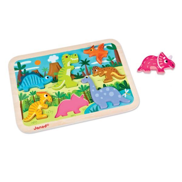 J07054 I Dinosauri - Puzzle a Incastro