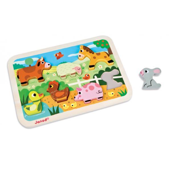J07055 Gli animali della Fattoria - Puzzle a incastro