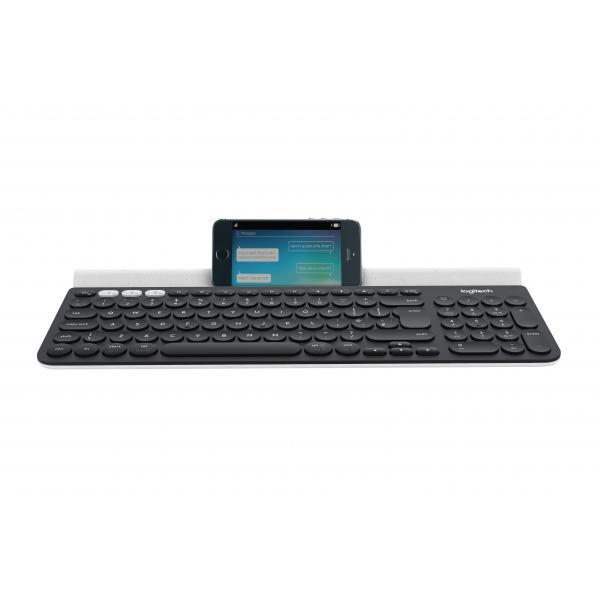 Logitech K780 RF Wireless + Bluetooth QWERTZ Tedesco Grigio, Bianco tastiera 5099206064942 920-008034 07_40487