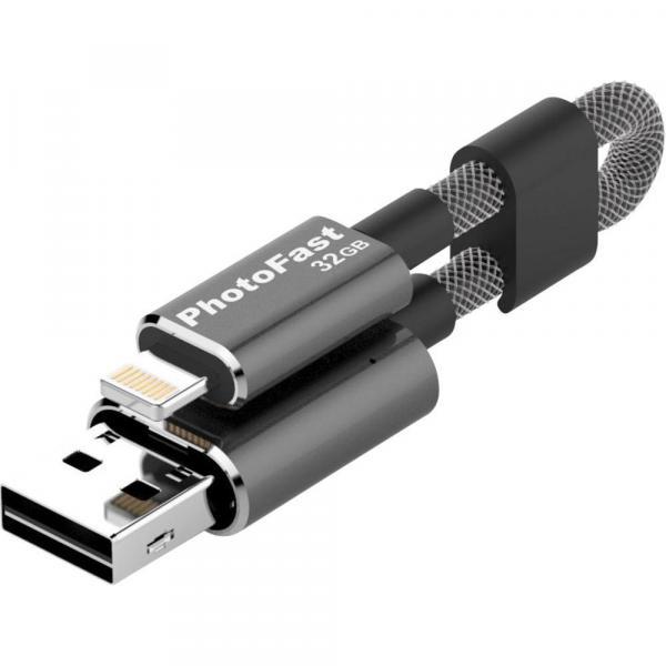 FLASH DRIVE CABLE PHOTOFAST Gen3 32GB USB 3.0 + LIGHTNING + SW BACKUP PER IPHONE/IPAD/IPOD