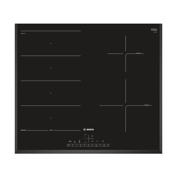 Bosch PXE651FC1E - Piano Cottura ad Induzione, 4 Fuochi, 60 cm, Nero