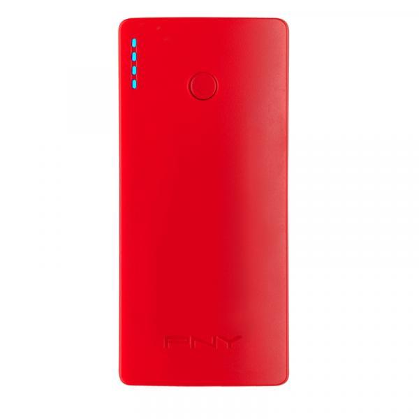 PNY PNY PowerPack Curve 5200 batteria portatile Red Lithium-Ion (Li-Ion) 5200 mAh