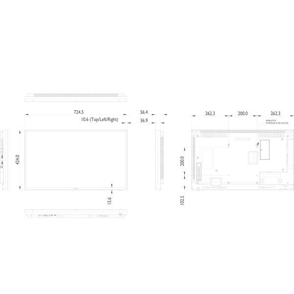 Philips Signage Solutions 32BDL4050D/00 Digital signage flat panel 32