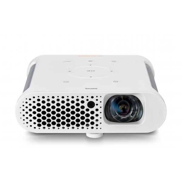Benq GS1 Proiettore portatile 300ANSI lumen DLP 720p (1280x720) Compatibilità 3D Bianco videoproiettore 4718755064593 9H.JFL77.59E 10_M353148