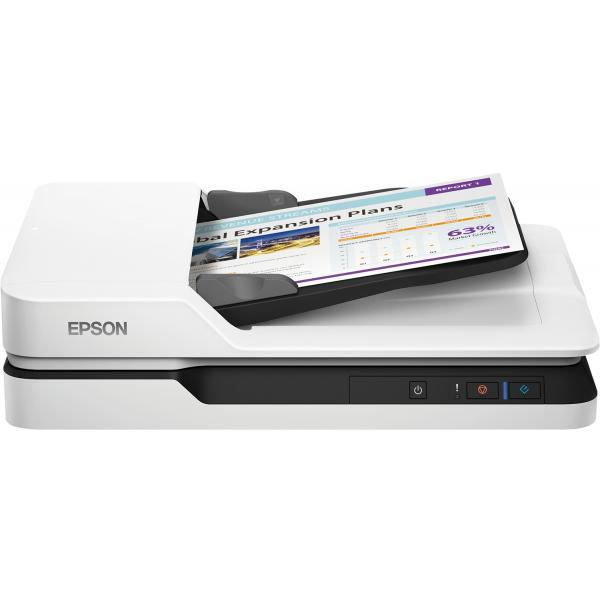 Epson WorkForce DS-1630 Scanner piano 1200 x 1200DPI A4 Nero, Bianco 8715946605630 B11B239401 14_B11B239401