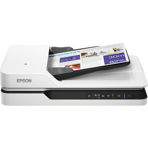 Epson WorkForce DS-1660W Scanner piano 600 x 600DPI A4 Nero, Bianco 8715946605661 B11B244401 14_B11B244401