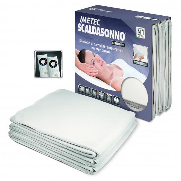Imetec Scaldasonno Sensitive Maxi Doubl Coperta elettrica 300W Microfibra Bianco 8007403162870 16287-IME TP2_16287-IME