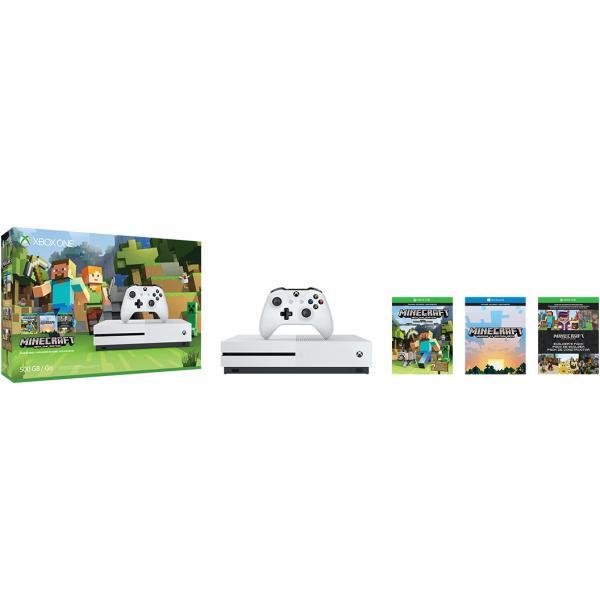 Microsoft Xbox One S + Minecraft 500GB Wi-Fi Bianco  ZQ9-00045 TP2_ZQ9-00045