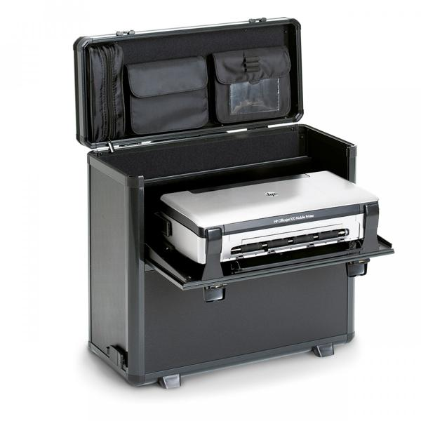 Dicota DataBox XL Trolley HP OJ 200 Stampante compatta Custodia trolley Nero