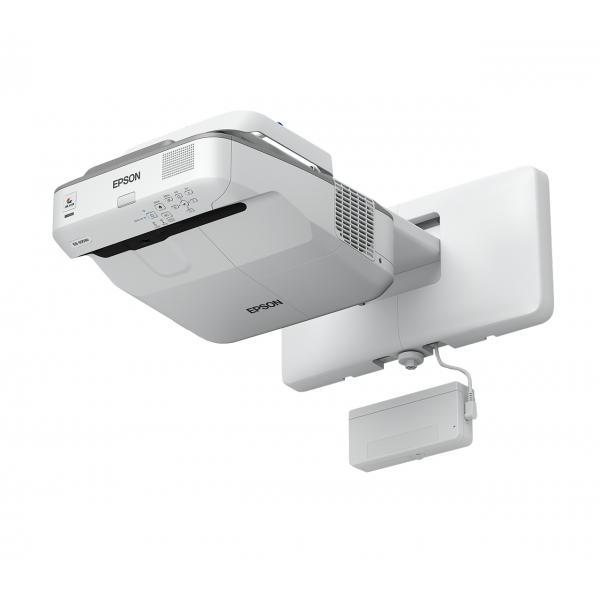Epson EB-680Wi Proiettore montato a muro 3200ANSI lumen 3LCD WXGA (1280x800) Grigio, Bianco videoproiettore 8715946605173 V11H742040 10_235M000