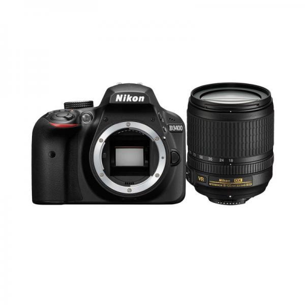 Nikon D3400 + 18-105mm VR + 8GB SD Kit fotocamere SLR 24.2MP CMOS 6000 x 4000Pixel Nero 8033737556047 ND3405 08_ND3405