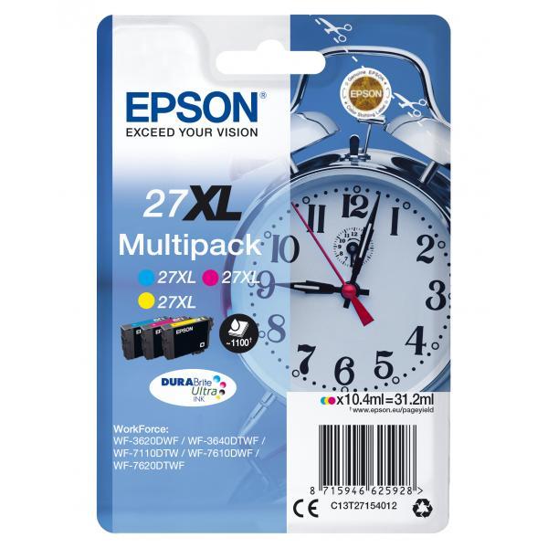 Epson C13T27154012 10.4ml 1100pagine Ciano, Giallo cartuccia d'inchiostro 8715946625928 C13T27154012 10_235M164