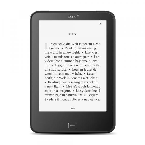 Tolino vision 4 HD 6 Touch screen 8GB Wi-Fi Nero lettore e-book TolinoVision4