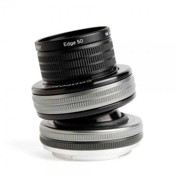 Lensbaby Composer Pro II with Edge 50 SLR Black, Argento