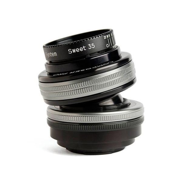 Lensbaby Composer Pro II with Sweet 35 Optic SLR Black, Argento