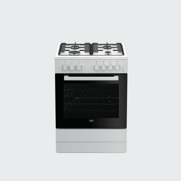 Beko FSST62110DW - Cucina Freestanding, Piano Cottura Gas ,4 Fuochi, Forno 71 Litri, Classe A