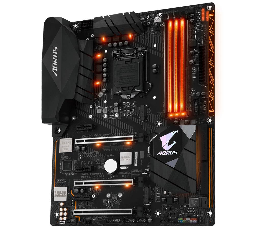 Gigabyte GA-Z270X-Gaming K5 Intel Z270 LGA 1151 (Socket H4) ATX scheda madre 4719331846398 GA-Z270X-GAMING K5 03_STD0000190259