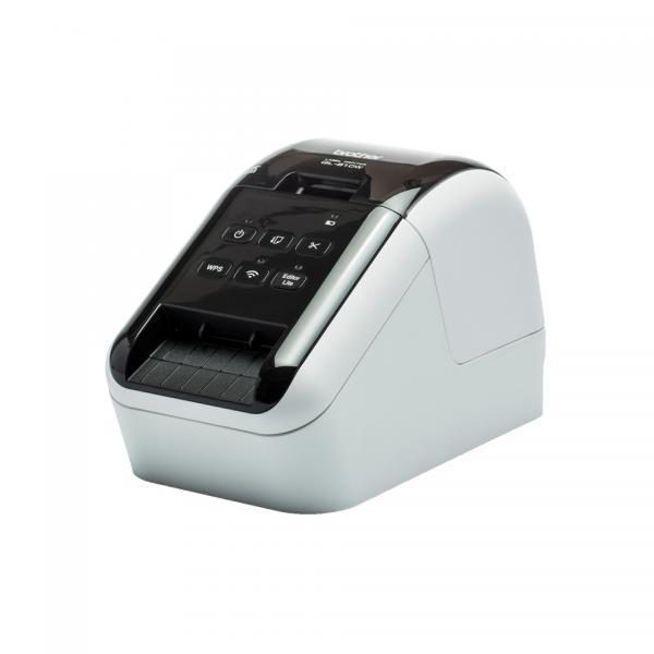 STAMPANTE BROTHER QL-810W X ETICHETTE Rotoli DK fino 62mm 300x600DPI 110 etich/min Cavo USB Adattatore 2 rotoli inclusi