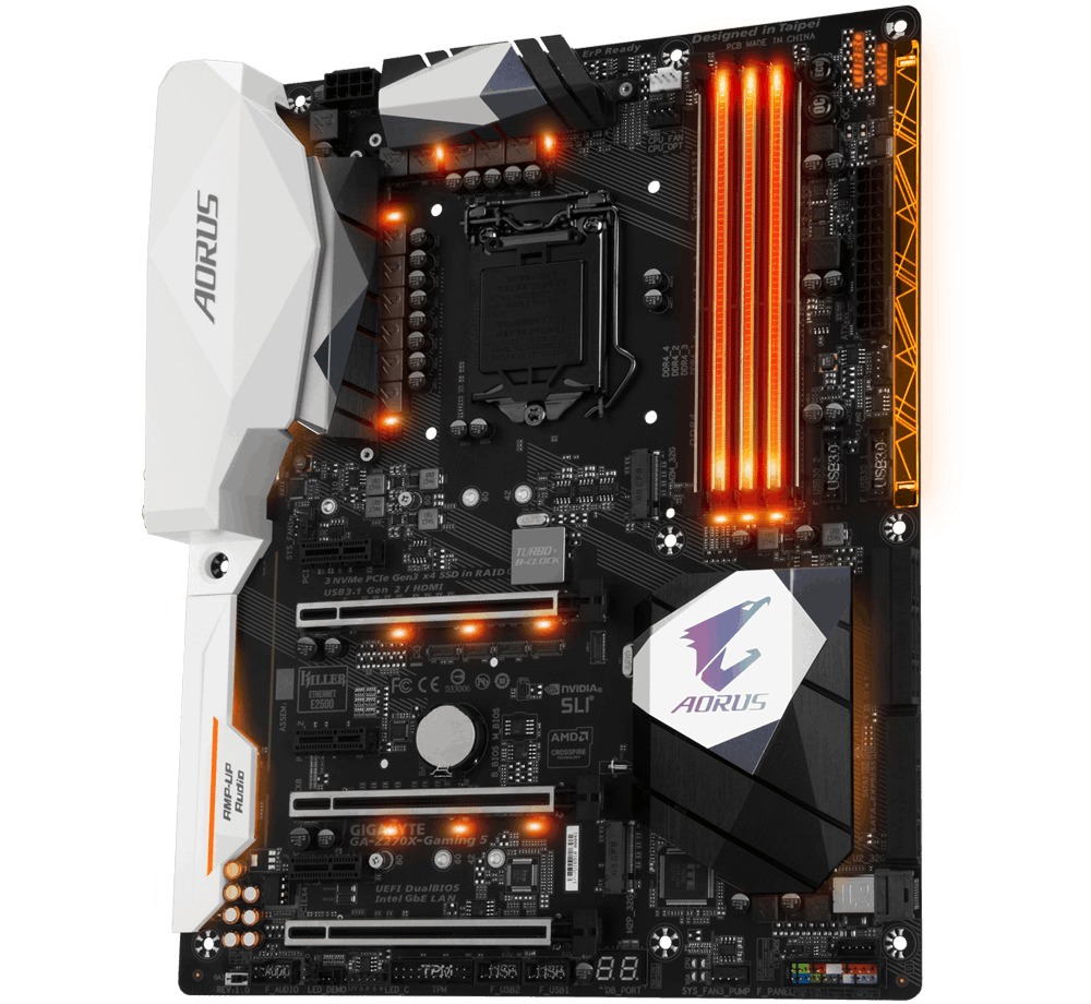 Gigabyte GA-Z270X-GAMING 5 Intel Z270 LGA 1151 (Socket H4) ATX scheda madre 4719331841386 GA-Z270X-GAMING 5 03_STD0000190258