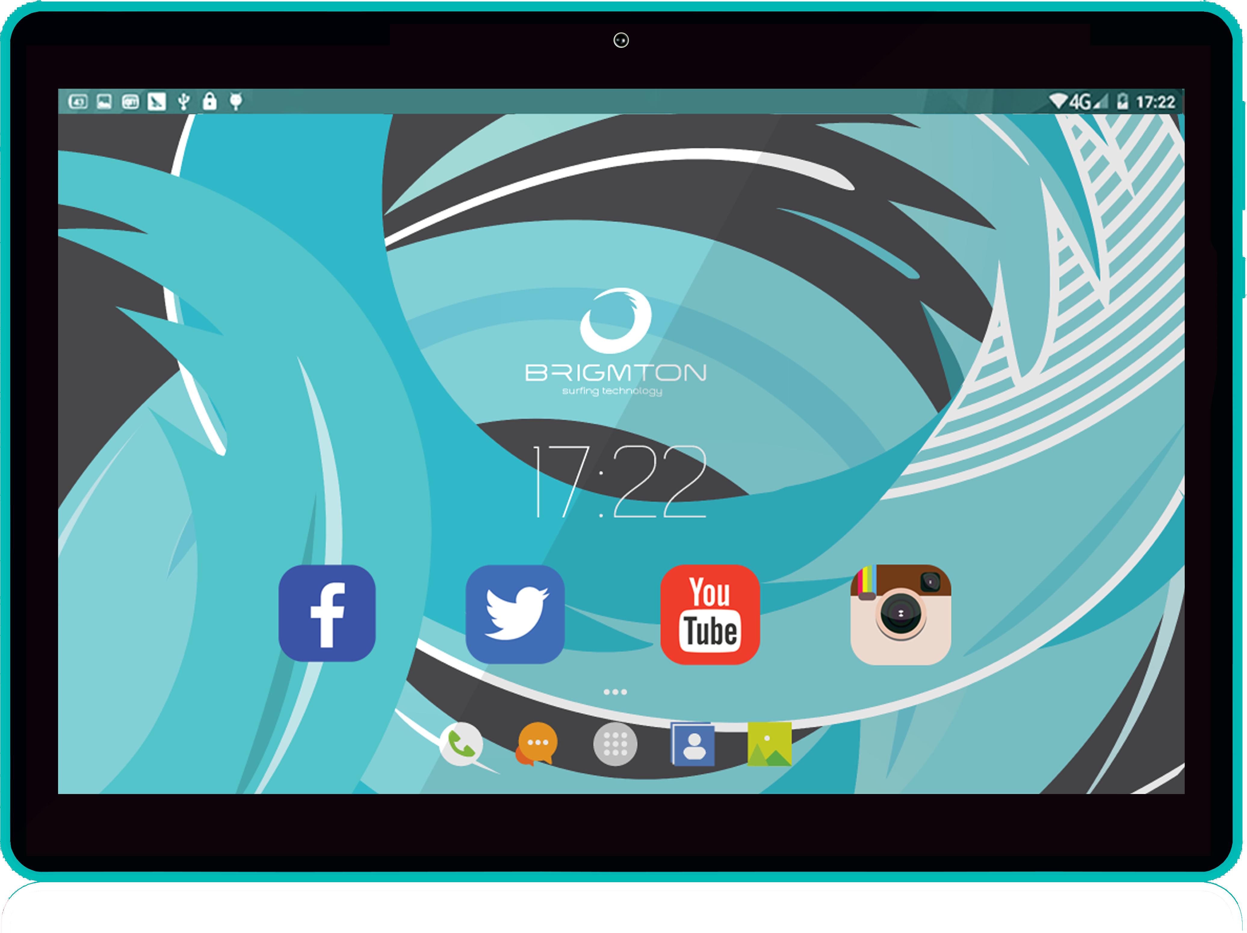 Brigmton BTPC-1019 16GB Nero, Blu tablet 8425081016672  02_S0402711