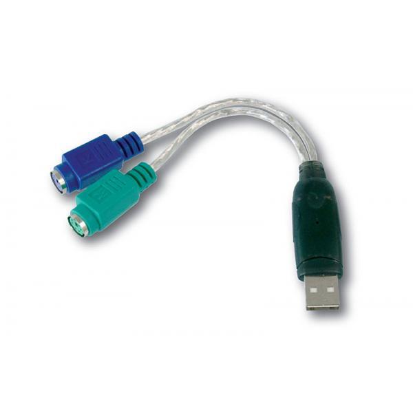 CAVO ADATTATORE DIGITUS DA USB a 2xPS2 M/F