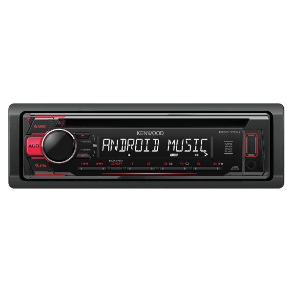 Kenwood KDC-110UR 200W Nero, Rosso autoradio 0019048216779 KDC-110UR TP2_KDC-110UR