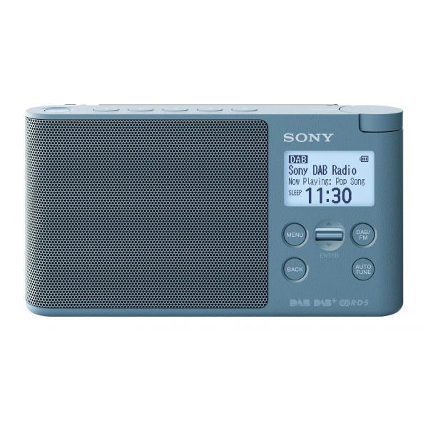 RADIO DIGITALE DAB/DAB+/FM DISP.LCD AZZURRO