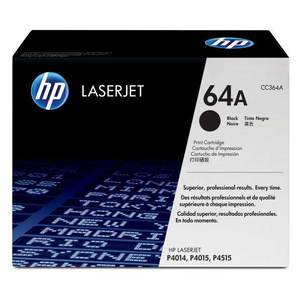 HP 64X original high-capacity Black LaserJet tonercartridge, 2-pack - CC364XD
