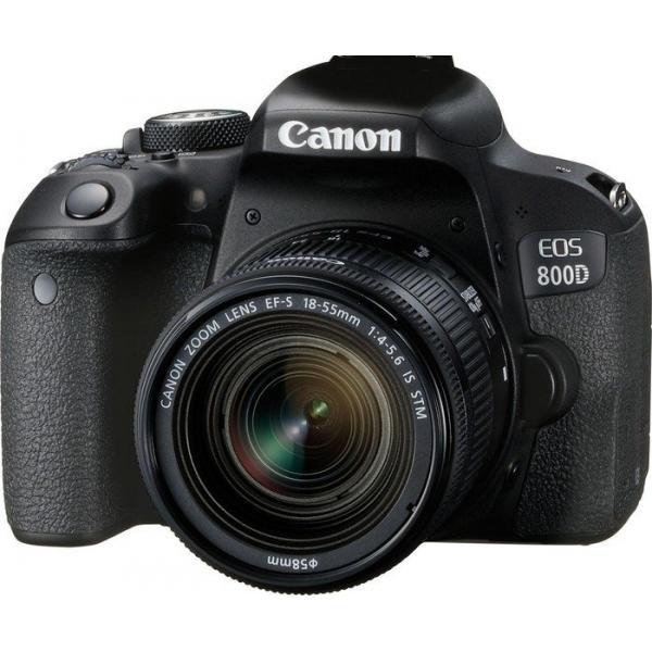 Canon EOS 800D + EF-S 18-55mm 4.0-5.6 IS STM Kit fotocamere SLR 24.2MP CMOS 6000 x 4000Pixel Nero  1895C002 TP2_1895C002