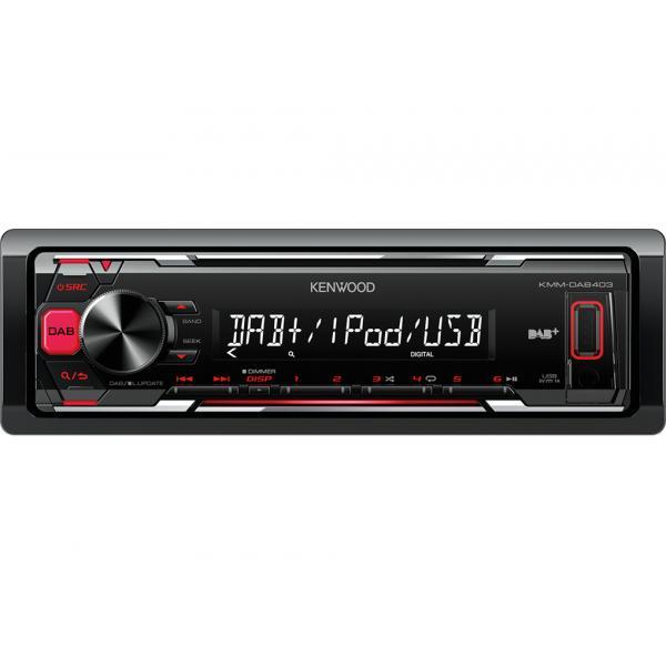 Kenwood-Electronics-KMM-DAB403-Ricevitore-multimediale-per-auto-Nero miniatura 2