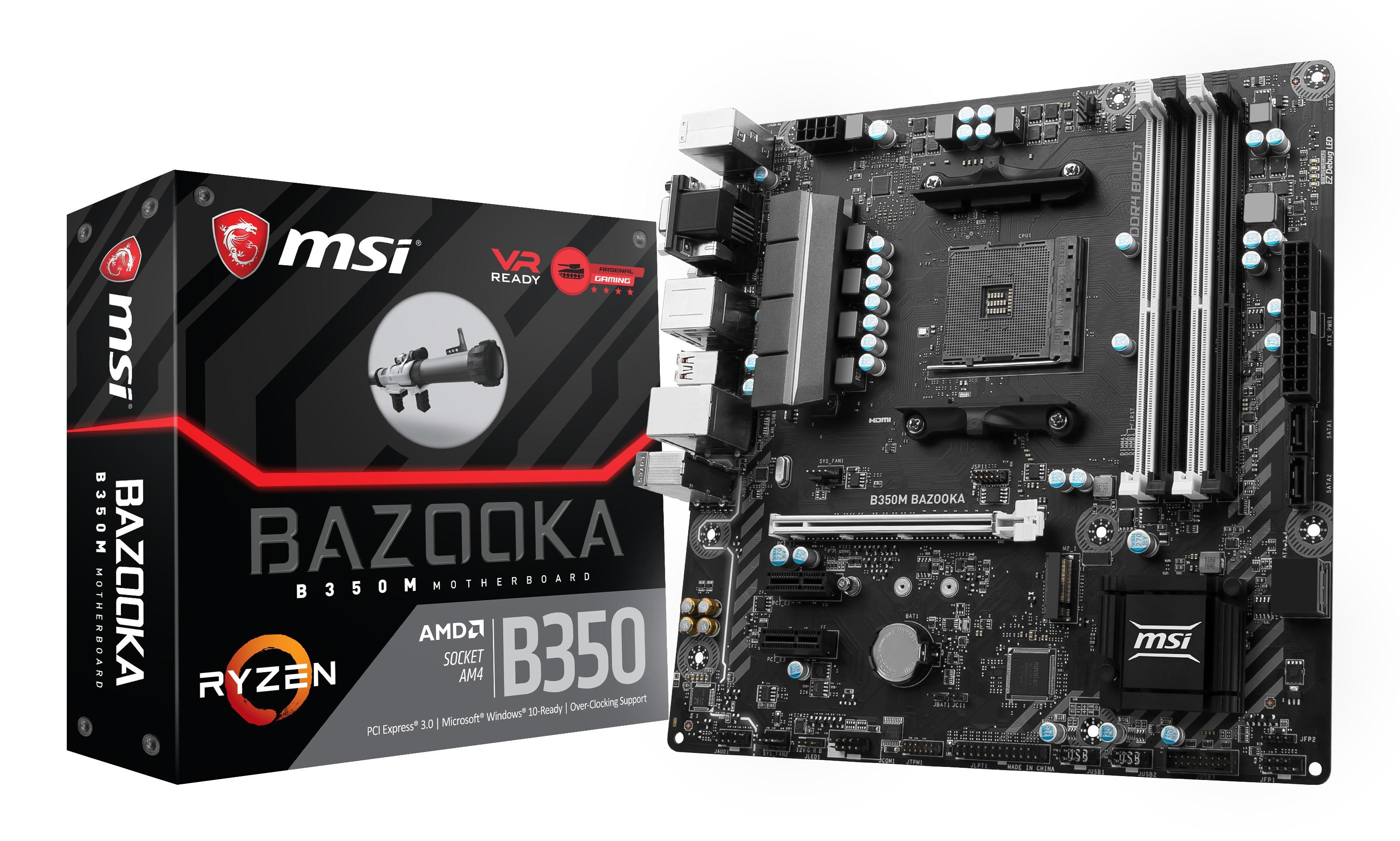 MSI B350M BAZOOKA AMD B350 Socket AM4 Micro ATX scheda madre 4719072512309 B350M BAZOOKA 03_B350M BAZOOKA